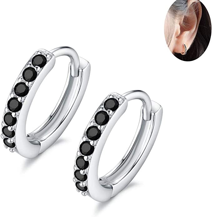Sterling Silver 7 Stone Cluster CZ Stud Earrings 13mm Cluster Size each Stone 4