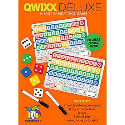Gamewright Qwixx Deluxe - Fast Family Dice Game: Toys & Games