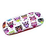 Owl Eyeglass Reading Glasses Child Hard Glasses Clam Shell Case
