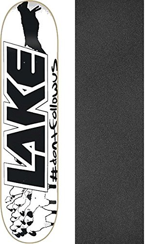 Lake Skateboards Black Sheep Skateboard Deck - 8.37'' x 32'' with Mob Grip Perforated Griptape - Bundle of 2 items by Lake Skateboards
