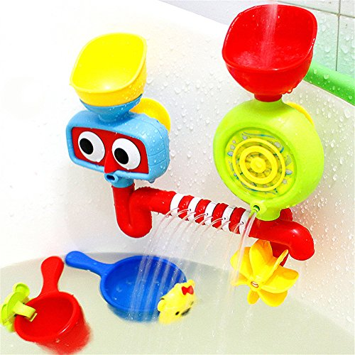 Price comparison product image PADEK Bath Tub Toy Water Sprinkler System Funny Bathing Toys Waterproof in Tub Baby Bath Bathroom Swimming Bathtub Toys for Children Kids Gift