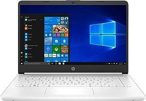 HP Laptop Intel Celeron N4020 4GB DDR4 SDRAM 64GB eMMC 14 inch HD LED Display Microsoft 365 1 Year Subscription (White)