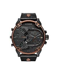 Diesel Men's DZ7400 Mr Daddy 2.0 Black Leather Watch