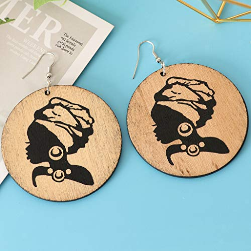 Naturally Dope Afro Earrings Simple Freedom Lightweight - 6 cm/2.4 inch Necklace Jewelry Crafting Key Chain Bracelet Pendants Accessories Best