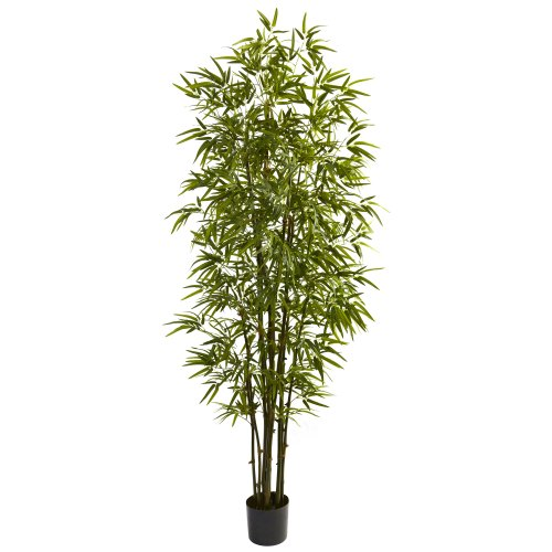 Nearly Natural 5421 Bamboo Tree, 7-Feet, Green