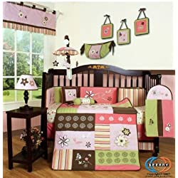 GEENNY Boutique Girl's 13 Piece Crib Bedding Set, Floral Dream