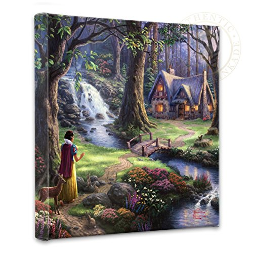 Thomas Kinkade - Gallery Wrapped Canvas , Snow White Discovers the Cottage , 14