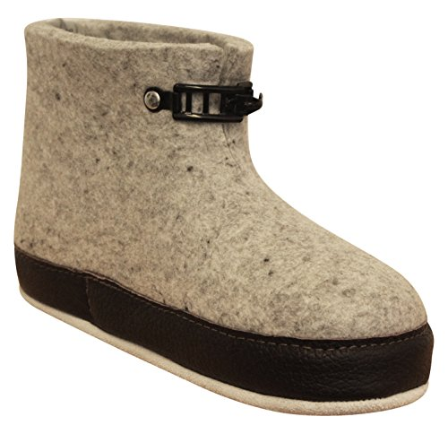 Askeland Farm - Tova Handmade Boiled Wool Slippers for Men and Women Exclusive Indoor Grey Norwegian House Shoes by Askeland Farm - Tova (Image #2)