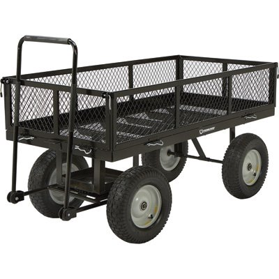 Panel Wagon - Strongway Heavy-Duty Jumbo Crate Wagon - 60in.L x 31 1/2in. 2,200-Lb. Capacity