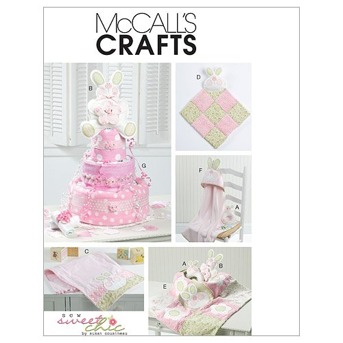 McCall's Patterns M6301 Toy, Decoration, Burp Cloth, Blankie, Blanket, Hooded Towel and Diaper Cake, One Size (Hooded Towel Patterns)
