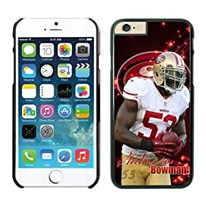 NFL iPhone 6 Plus 5.5 Inches Case San Francisco 49ers NaVorro Bowman Black iPhone 6 Plus Cell Phone Case ONXTWKHC3893