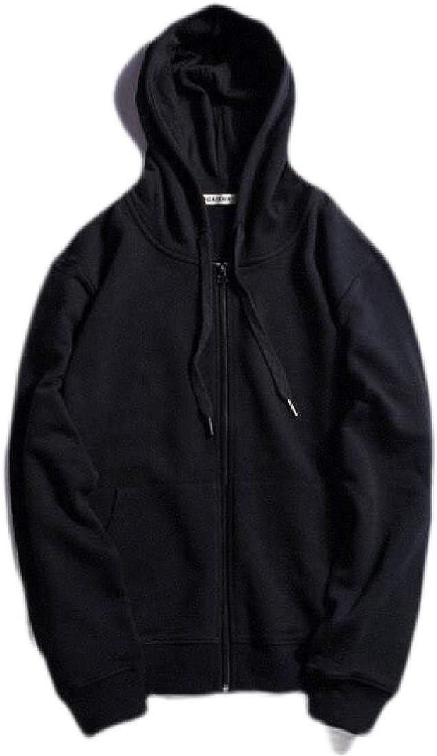 Wofupowga Mens Outwear Long Sleeve Zipper Jacket Hoodies Sweatshirts