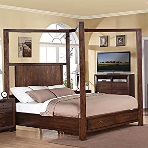 Riverside Furniture Riata Canopy Storage Bed King