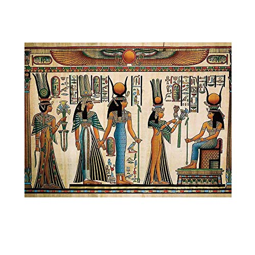 Egyptian Photography Background,Egyptian Papyrus Depicting Queen Nefertari Making an Offering to Isis Print Backdrop for Studio,15x10ft