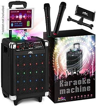 Karaoke Wireless Microphone Speaker Machine with Disco Ball