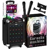 KaraoKing Karaoke Machine for Kids & Adults Wireless Microphone Speaker with Disco Ball, 2 Wireless Bluetooth Microphones & Free Phone/Tablet Holder –Karaoke Bluetooth Toys for Kids (G100)