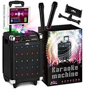 Best Wireless Speakers 2020.Karaoke Machine For Kids Adults 2020 New Wireless Microphone Speaker With Disco Ball 2 Wireless Bluetooth Microphones Free Phone Tablet Holder