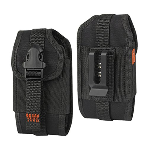 For Samsung Galaxy J7 / J7 2017 / J7 Perx / J7V / J7 Prime / Halo / Reiko Black Rugged Holster Clip Pouch W/ Card Pocket (Large Size Fits W/ Hybrid Case on) and Zoomazig Stylus