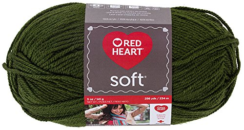 Red Heart Soft Yarn, Dark Leaf