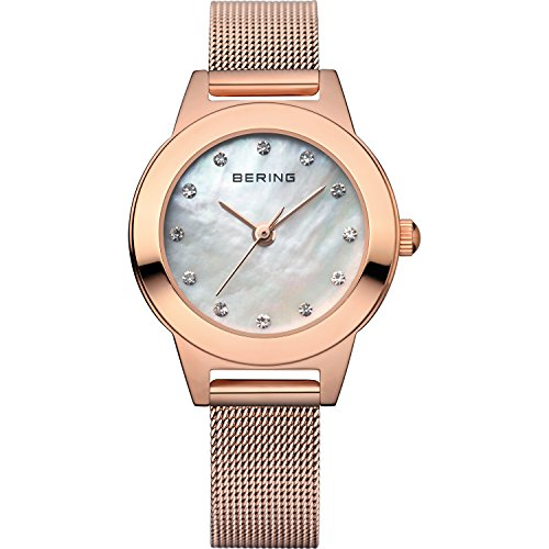 BERING Time 11125-366 Womens Classic Collection Watch with Mesh Band and scratch resistant sapphire crystal. Designed in Denmark.