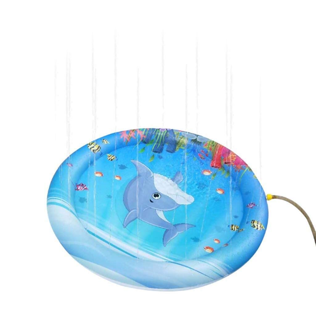 DAMAI STORE Summer Inflatable Swimming Pool, Summer Garden Sprinkling Baby Toy mat, 100 cm Water Spray mat Swimming