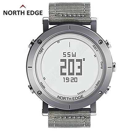 Boblov North Edge Reloj Inteligente de Hombre Resistente al Agua Sport Smart Watch con Brújula Barómetro