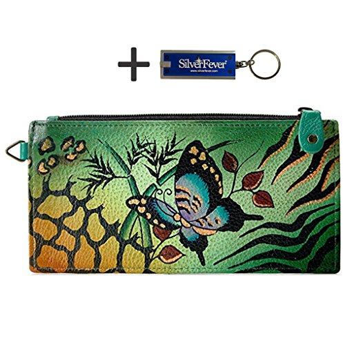 anna-by-anuschka-ladies-wallet-key-chain-lng-organizer-animal-butterfly-green