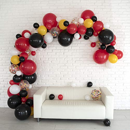 - Lunar Bliss 16 ft Balloon Arch & Garland Kit | 100 Balloons, Black, Red, Confetti | Birthday Party Decorations, Baby Shower, Engagement, Bridal Shower, Wedding, Anniversary, Event (Magical Mouse)