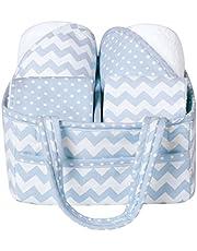 Trend Lab 5-Piece Baby Bath Gift Set, Blue Sky