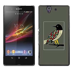 Be Good Phone Accessory // Dura Cáscara cubierta Protectora Caso Carcasa Funda de Protección para Sony Xperia Z L36H C6602 C6603 C6606 C6616 // Bird Branch Pretty Ornithology