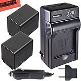 BM Premium 2-Pack of VW-VBT380 Batteries and Battery Charger for Panasonic HCV380, HCV510, HCV520, HCV550, HC-V710, HC-V720, HC-V750, HC-V770, HC-VX870, HC-VX981, HC-W580, HC-W850, HC-WXF991 Camcorder