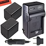 BM Premium 2-Pack of VW-VBT380 Batteries and Battery Charger for Panasonic Camcorders