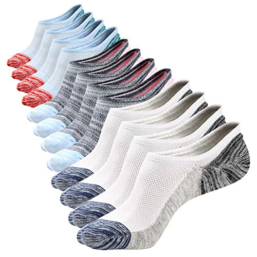 (Mens Low Cut No Show Mesh Top Air Fresh Ventilation Non-Slide Cotton New Color Socks 6 Pack)