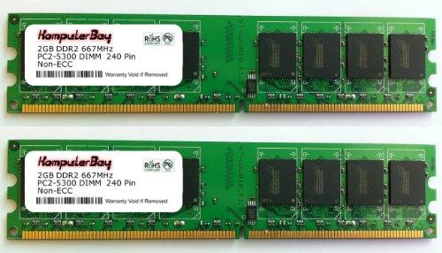 Komputerbay 4GB ( 2 x 2GB ) DDR2 DIMM (240 PIN) AM2 667Mhz PC2 5400 / PC2 5300 FOR MSI K9N2GM-FIH 4 GB