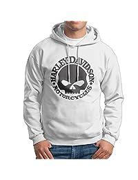 CCABB8 Men's Harley Davidson Skull Long Sleeve Sweatshirt Hoodies