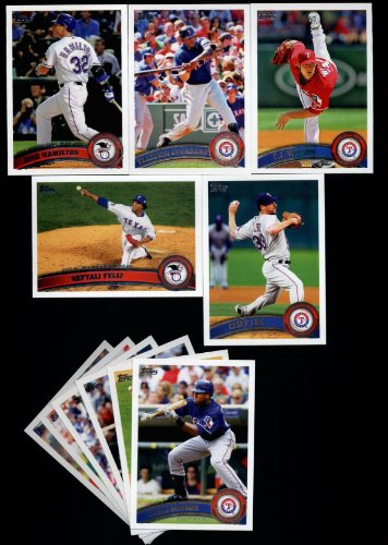 Texas Rangers Team Set - 2011 Topps Texas Rangers Complete Series 1 & 2 Team Set / 25 Cards including Cliff Lee, Neftali Feliz, CJ Wilson, Guererro, Hamilton, Harrison, Kinsler, Mitch Moreland & more!