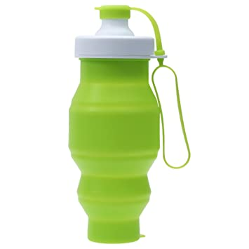 shuzhen-cups, Sport Portable Folding Beber botella eco - friendly Silicone drinkware (color