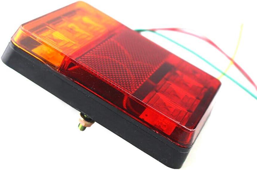 feu arri/ère carr/é Submersible Breake Feu Clignotant 2pcs housesweet Kit de Feux de remorque /à LEDs