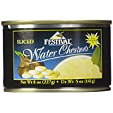 Festival Sliced Waterchestnuts, 8-Ounce (Pack of 24)