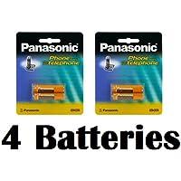 Panasonic Original Ni-MH Rechargeable Batteries (2 Packs of 2) for the Panasonic KX-TGA101S - KX-TG1031S - KX-TG1032S - KX-TG1033S - KX-TG1034S & KX-TG1035S DECT 6.0 Digital Cordless Phone Answering System