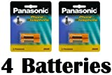 Panasonic Original Ni-MH Rechargeable Batteries (2 Packs of 2) for the Panasonic KX-TGA410 - KX-TG7622B & KX-TG7623B DECT 6.0 Link-to-Cell via Bluetooth Cordless Phone Black
