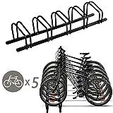 Goplus 5 Bike Rack Bicycle Stand Cycling Rack Parking Garage Storage Organizer, Black