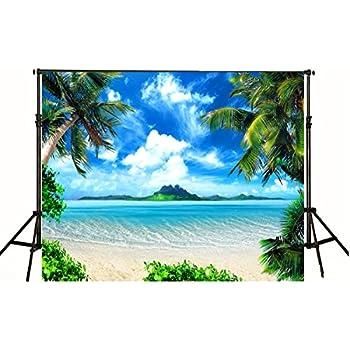 Amazon Com 5x7 Tropical Photo Backdrop Jungle 5x7 Beach