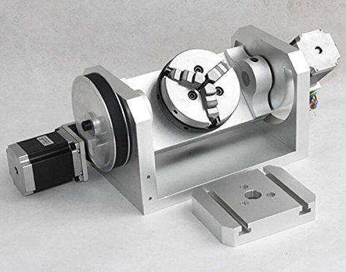kohstar cnc 4th axis stepper motor rotary table with 3 jaw