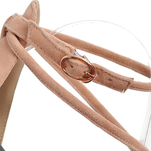 Sandals Summer Black/Apricot/Pink PU Frosted Open-Toed Female Non-Slip Rubber Sole Flats Junior High School Students Flat Shoes Women's Shoes Pink vqNv3HB