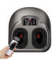 Masajeador de pies Arealer, masaje pies con calefacción y compresión de aire, 5 modos de shiatsu y amasamiento para pies, con control remoto y pantalla LCD, para el hogar y oficina