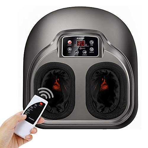 Foot Massage AREALER Kneading Shiatsu Therapy Feet Massage Machine with Deep-Kneading, Built-in...
