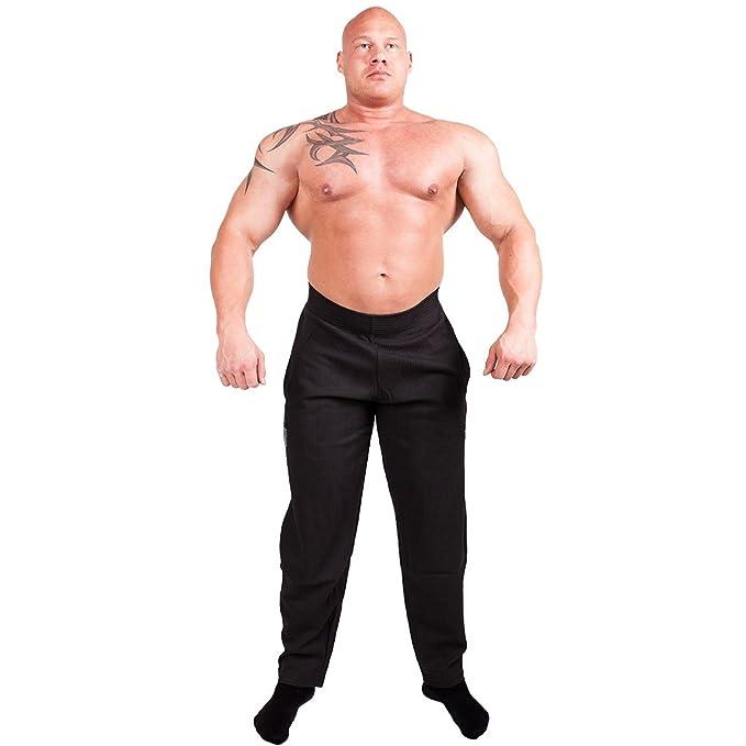 Herren Fitnessstudio Ausgebeulte Hose für Bodybuilding Baumwolle und Elasthan