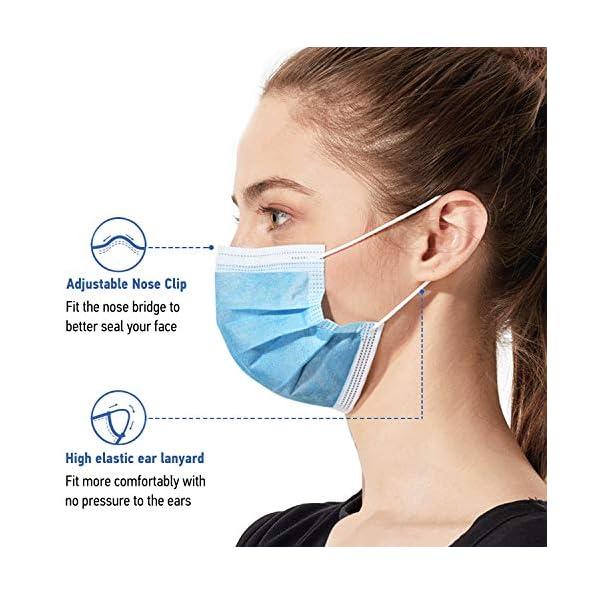 50-Stck-Einweg-Gesichtsmasken-UNTIRE-Mundschutzmasken-3-lagig-Gesichtsschutz-Masken-mit-Ohrschlaufen-Schutzmaske-Schtzt-Vor-Staub-Blau