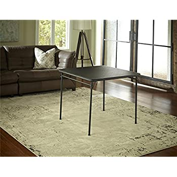 cosco dorel industries square vinyl top folding dining or card table 34inch